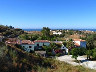View of Finca towards the meditarreanien sea and beach of Costa del Sol