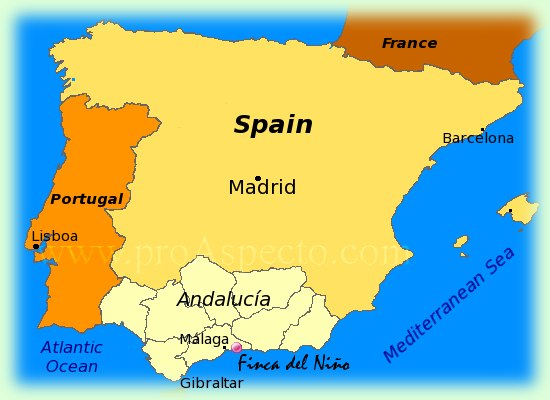 In The South Of Spain A Special Place To Stay For Your Holidays In - Map of andalusia