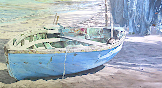 Watercolour painting Duquesne boat by Doug Mays