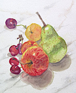 Watercolour painting Fruits by Doug Mays