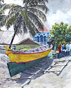 Watercolour painting St. Lucia by Doug Mays