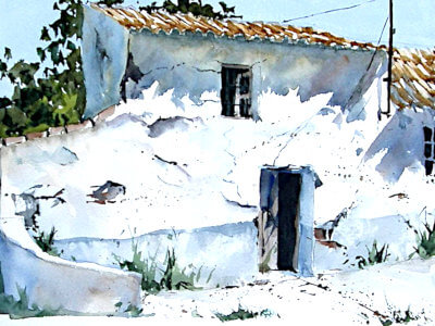 Watercolour painting of Ruin in Andalusia by Andrew John